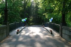 The bridge to enter onto the stunning property. The Gardens at Elm Bank - Photograph from Hayward Photography.