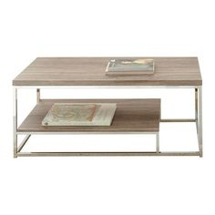"""Features:  -Corona collection.  -Durable Silvershield 3D PVC laminates and chrome.  Top Material: -Manufactured wood. Dimensions:  Overall Height - Top to Bottom: -20"""".  Overall Width - Side to Side:"""