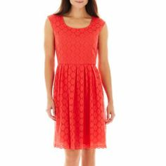 Ronnie Nicole Fit-and-Flare Lace Dress from #JCP #JCPenney
