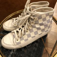 e312ac31983a Louis Vuitton Old School Leather High Tops size 35