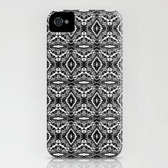 Vibes...iPhone case - by: Lisa Argyropoulos - $35.00 - Black, white, pattern, unisex, abstract, art, style, design