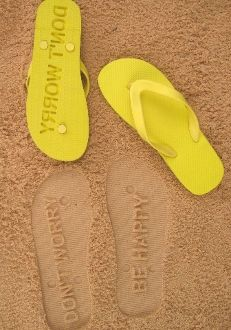 Don't Worry Be Happy Flip Flops by FlipSide Flip Flops