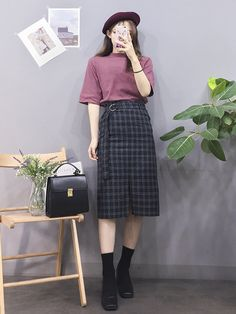 Korean Fashion Trends you can Steal – Designer Fashion Tips Korean Fashion Trends, Korea Fashion, Asian Fashion, Look Fashion, Trendy Fashion, Girl Fashion, Fashion Design, Fashion Styles, Ulzzang Fashion
