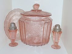 Vintage pink depression glass; got me some of this today while antiquing and in tea cup form!