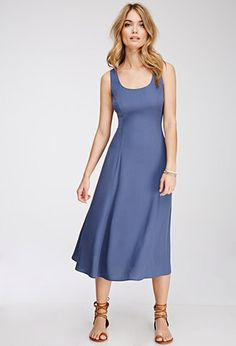 Draped Tie-Back Midi Dress | Forever 21 - 2052287917