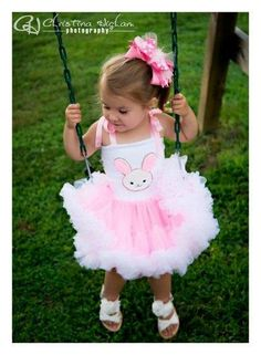 Easter Bunny Beauty Pettiskirt Dress 3 by PettiskirtFashions, $50.00