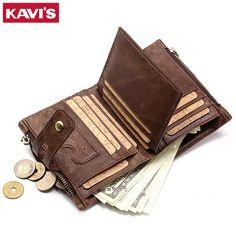 Herren-accessoires Geldbörsen & Etuis Business Short Men Wallet Pu Leather Hasp Coin Pocket Money Bag Card Holder Gift