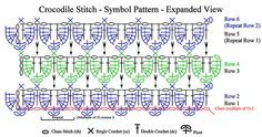 Crocodile Stitch Tutorial #crocodilestitch #crocodilecrochet #crocodilecraft