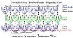 Crocodile Stitch Tutorial #crocodilestitch #crocodilecrochet #crocodilecraft