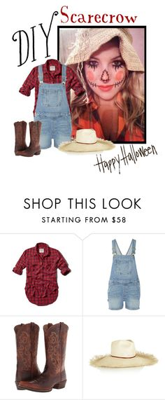 """""""DIY Scarecrow Costume"""" by elmtree87 ❤ liked on Polyvore featuring Abercrombie & Fitch, Frame, Ariat, DYI and happyhalloween"""