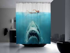 Originales cortinas de baño - http://decoracion2.com/originales-cortinas-de-bano/66236/ #ConsejosDeDecoración, #CortinasDeBaño, #DecoracionDeBaños