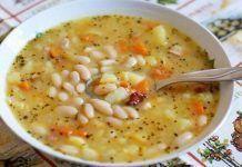 Божественный суп с фасолью. Рецепт моей бабушки! Получается вкусным и очень наваристым!