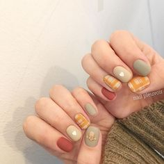 Nail art Christmas - the festive spirit on the nails. Over 70 creative ideas and tutorials - My Nails Cute Acrylic Nails, Cute Nail Art, Cute Nails, Korean Nail Art, Korean Nails, Casual Nails, Trendy Nails, Hair And Nails, My Nails