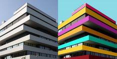 colores en los edificios