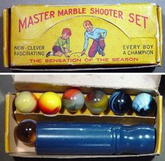 79dd41c40c69fb Vintage marble set with shooter