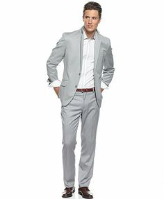 Groom's and groomen's suits - INC International Concepts Suit, Two Piece Antelope Suit. Cost: $128.36