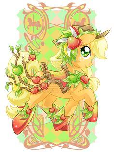Apple Jack Carousel Cutie by Amelie-ami-chan.deviantart.com on @deviantART