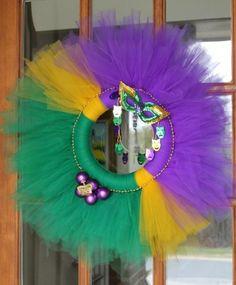 Tulle Mardi Gras Wreath