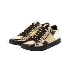 Sneaker von Armani im Metallic-Look
