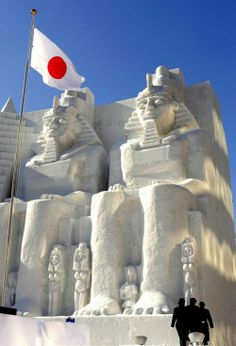 Egyptian snow sculptures.  This was a show they did in japan.