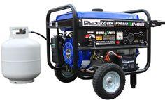 DuroMax XP4400EH 7 HP Dual Fuel Propane/Gas Powered Portable Electric Start Generator, 4400-Watt