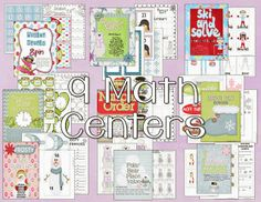 Winter Centers that are common core aligned for first grade. 9 Math and 9 Literacy Centers plus tons of writing activities and more.