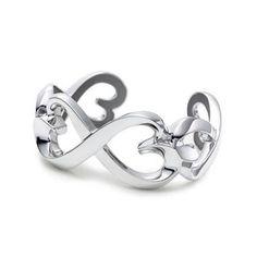 Tiffany Fans all like it, Tiffany Heart Bracelet Paloma Picasso Double Loving Heart Cuff
