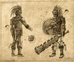 Aztec warriors                                                                                                                                                      More