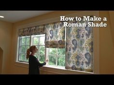 ▶ How to Make a Roman Shade - YouTube  Most complete video.