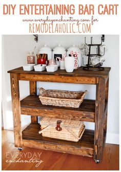 Build a Wood Bar Cart for Entertaining and Storage; Day 5