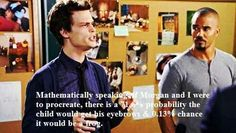 Criminal Minds..tee hee hee. Gotta luv, Dr. Spencer Reid. Maybe he and Sofia from The Bridge should investigate a case together!