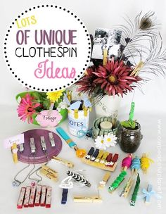 You'll be blown away by what you can do with the simple clothespin!   And we're talking useful upcycle things that can make life easier (though there are some fun and decorative ones tossed in.) Take a peek at our ever growing list of ideas. You'll find detailed instructions and lots of FREE PRINTABLES!