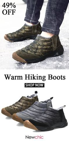 b36fc704276 Men Outdoor Waterproof Anti-collision Wearable Warm Lined Hiking Boots is  fashionable