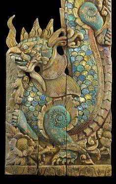 Antique Oriental Carved Dragon