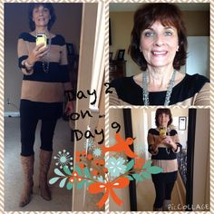 12/13/2014 Caslon tunic, Dress Barn leggings, old boots from Tennessee, cross statement necklace from boutique, silver cuff from sister-in-law.