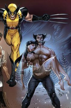 Wolverine and Silver Fox by J.Scott Campbell