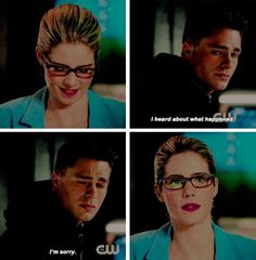 """""""I heard about what happened"""" - Roy and Felicity #Arrow"""
