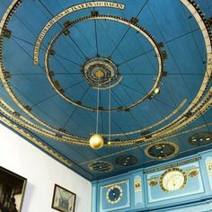 Between 1774 and 1781 Eise Eisinga built a solar system model into his living room ceiling in Friesland, Holland. Build A Solar System, Solar System Model, Interior Exterior, Interior Architecture, Interior Design, Future House, My House, You Are My Moon, My New Room