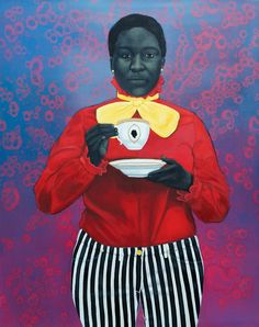 GRANDE DAME QUEENIE | Amy Sherald | 2013 Series 1 of 6 Amy Sherald: Painting Exhibition, Reginald L. Lewis Museum of Maryland African American History & Culture, September 14 - December 29, 2013. www.amysherald.com