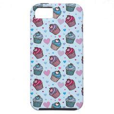 Cute Cupcake Heart Pattern iPhone 5 Case