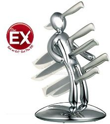 The Ex VooDoo Chrome Abs Plastic Knife Set  $99.99