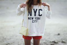 céline trio bag, bikbok college,  intodust viktoria, viktoria reier, NYC, outfit