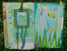 Altered book inspiration butterflies and love the frame bookmark idea
