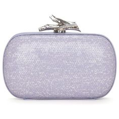 Diane von Furstenberg Sequin Lytton Box Clutch ($325) ❤ liked on Polyvore featuring bags, handbags, clutches, purses, bolsas, accessories, box clutch, leather box clutch, leather handbags and leather handbag purse