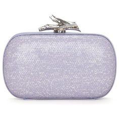 Diane von Furstenberg Sequin Lytton Box Clutch (5,655 MXN) ❤ liked on Polyvore featuring bags, handbags, clutches, purses, bolsas, accessories, leather clutches, sequin purse, real leather handbags and mini purse
