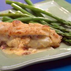 Low-Carb Ham-&-Cheese-Stuffed Chicken Breasts Recipe