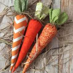 Fabric Easter carrots perfect Easter and spring decor.