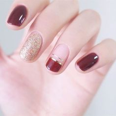 Very Pretty Nail Art Designs for Girls In Summer - Page 18 of 20 Here are some very nice nails for your eyes to see! These nails are so beautiful that they make you feel warm and fuzzy inside,… Nail Art Designs, Short Nail Designs, Nail Polish Designs, Nails Now, Red Nails, Hair And Nails, Design Ongles Courts, Jolie Nail Art, Wedding Nail Polish