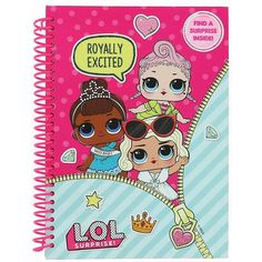 Buy LOL Surprise: Notebook online and save! An Hardback Notebook with a surprise sheet of stickers inside. Kids Toy Shop, Toys Shop, Hardback Notebook, A5 Notebook, Baby Play House, My Little Pony Costume, Disney Princess Toys, Unicorn Foods, Office Birthday