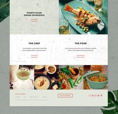 Responsive website design for Santaella, a Puerto Rican restaurant